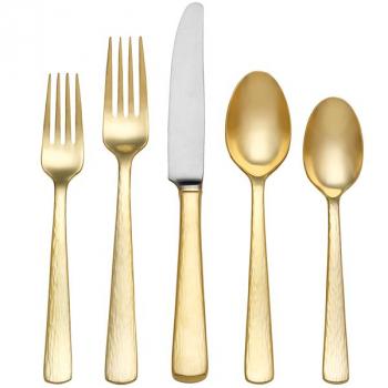 Набор столовых приборов Reed and Barton ECHO GOLD, позолоченные, 5 шт.