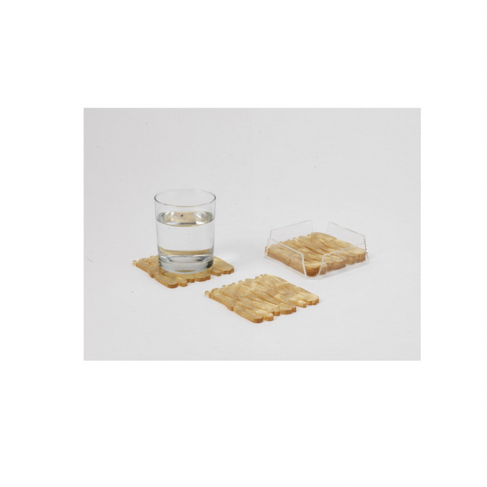 Набор подставок под чашку Platex OLD GOLD, акрил, 10 x 10 см, 4 шт.