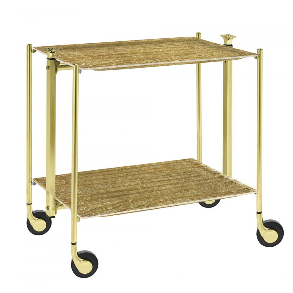 Столик сервировочный двухэтажный Platex OLD GOLD