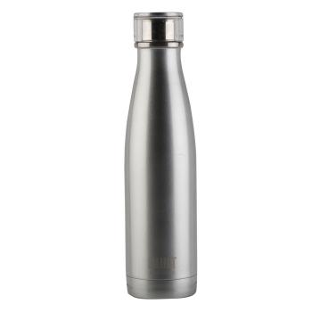 Бутылка металлическая Built Silver, с двойными стенками, серебряная, 500 мл