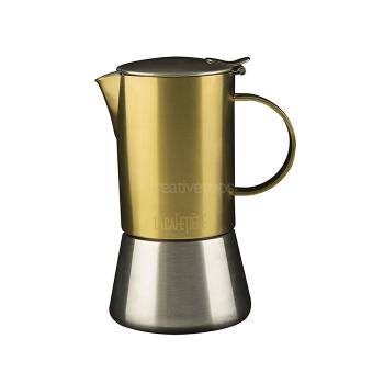 Гейзерная кофеварка, нержавеющая сталь/золото, 200 мл