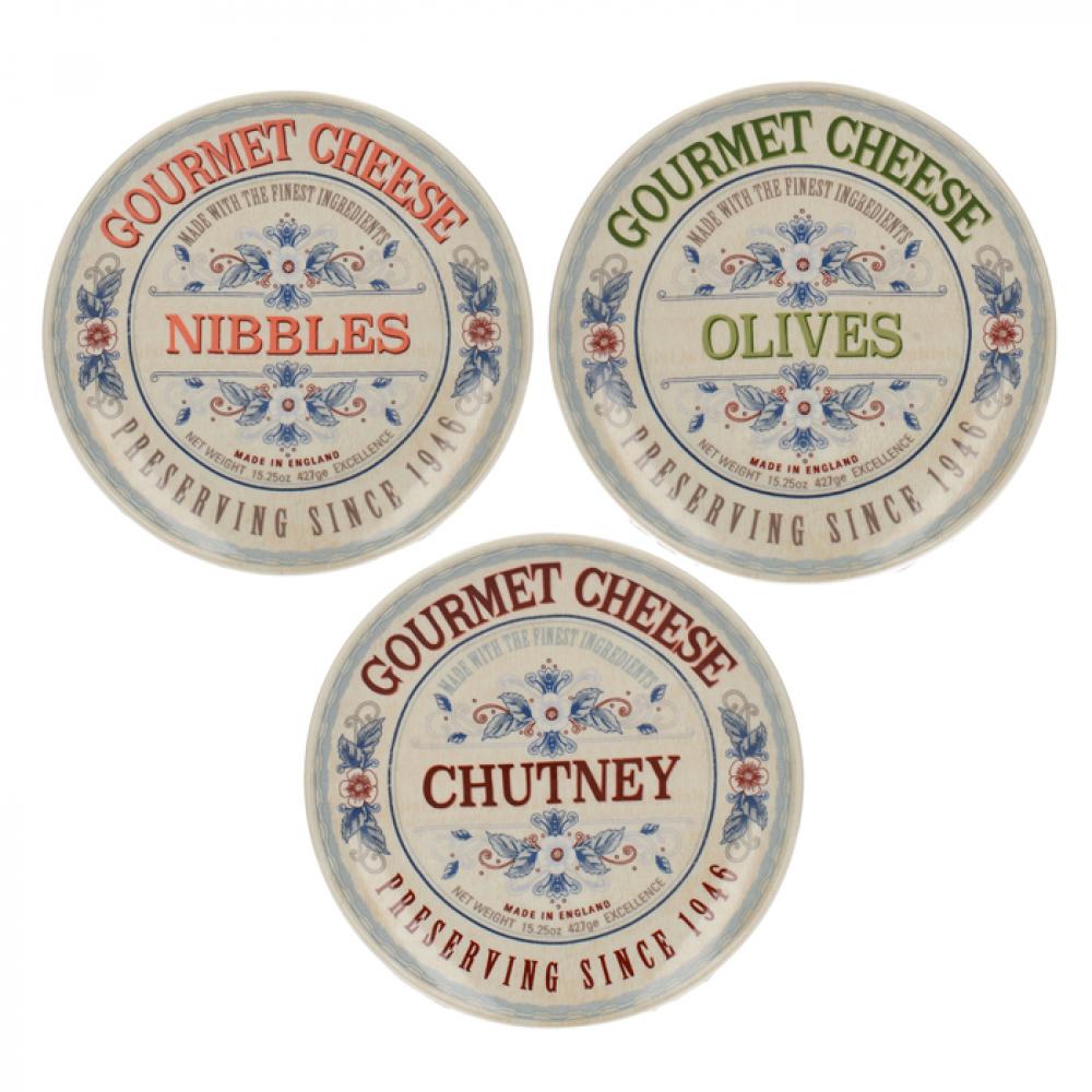 Набор тарелок для закусок CreativeTops GOURMET CHEESE, диам. 15,5 см, 3 шт.
