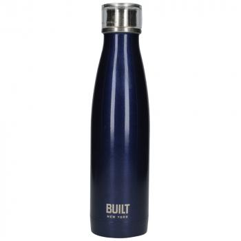 Бутылка металлическая Built Midnight Blue, с двойными стенками, синяя, 500 мл
