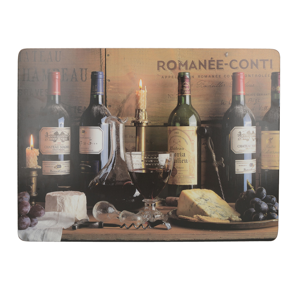 Набор пробковых подставок под тарелки Kitchen Craft Vintage Vine, 40 х 29 см, 4 пр.
