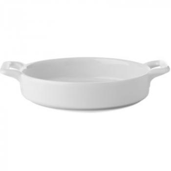 Блюдо овальное для крем-брюле Revol, белое, 0,15 л, 12 х 11 х 3 см