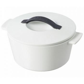 Revolution Revol Кокотница круглая, белая крышка, 2,4 л, диам. 23 см