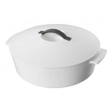 Revolution Revol Кокотница круглая, белая крышка, 3,6 л, диам. 28 см