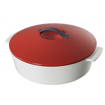 Revolution Revol Кокотница круглая, красная крышка, 3,6 л, диам. 28 см