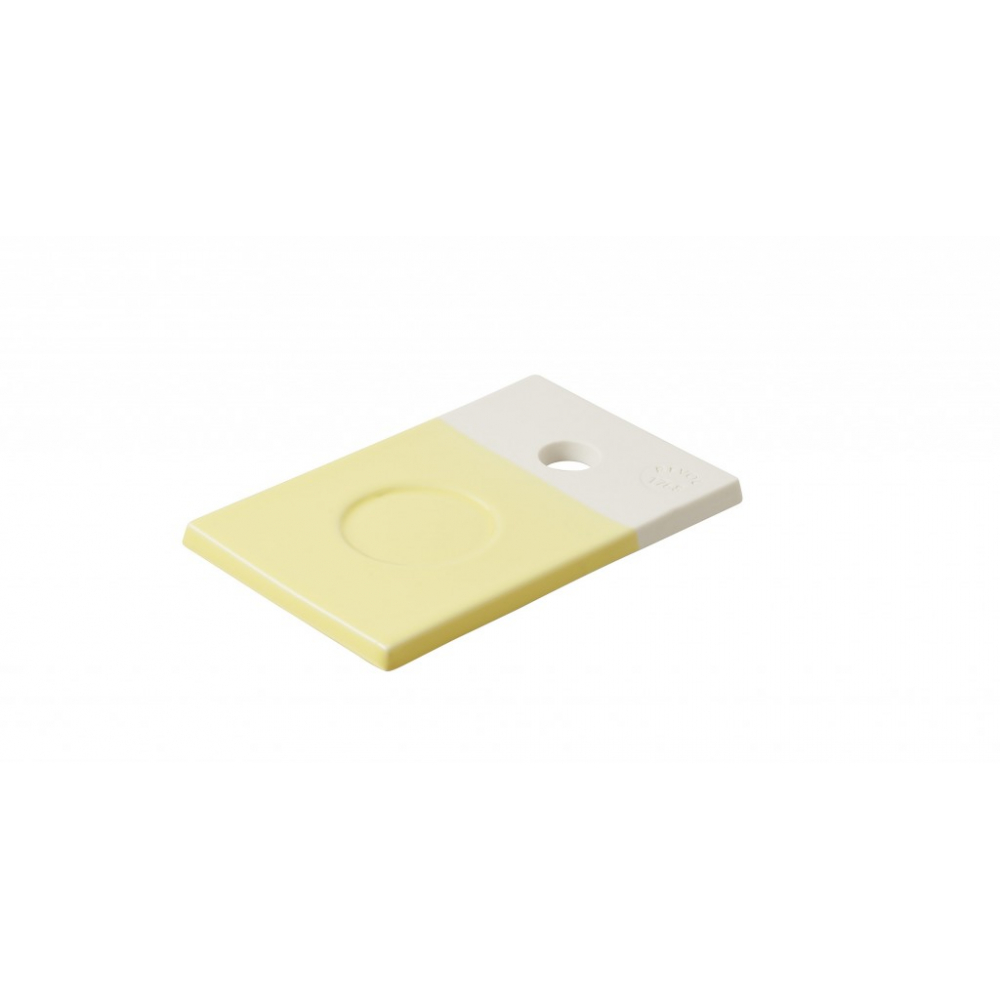Подставка для чашки Revol Color Lab, лимонная, 14 х 9 х 0,8 см