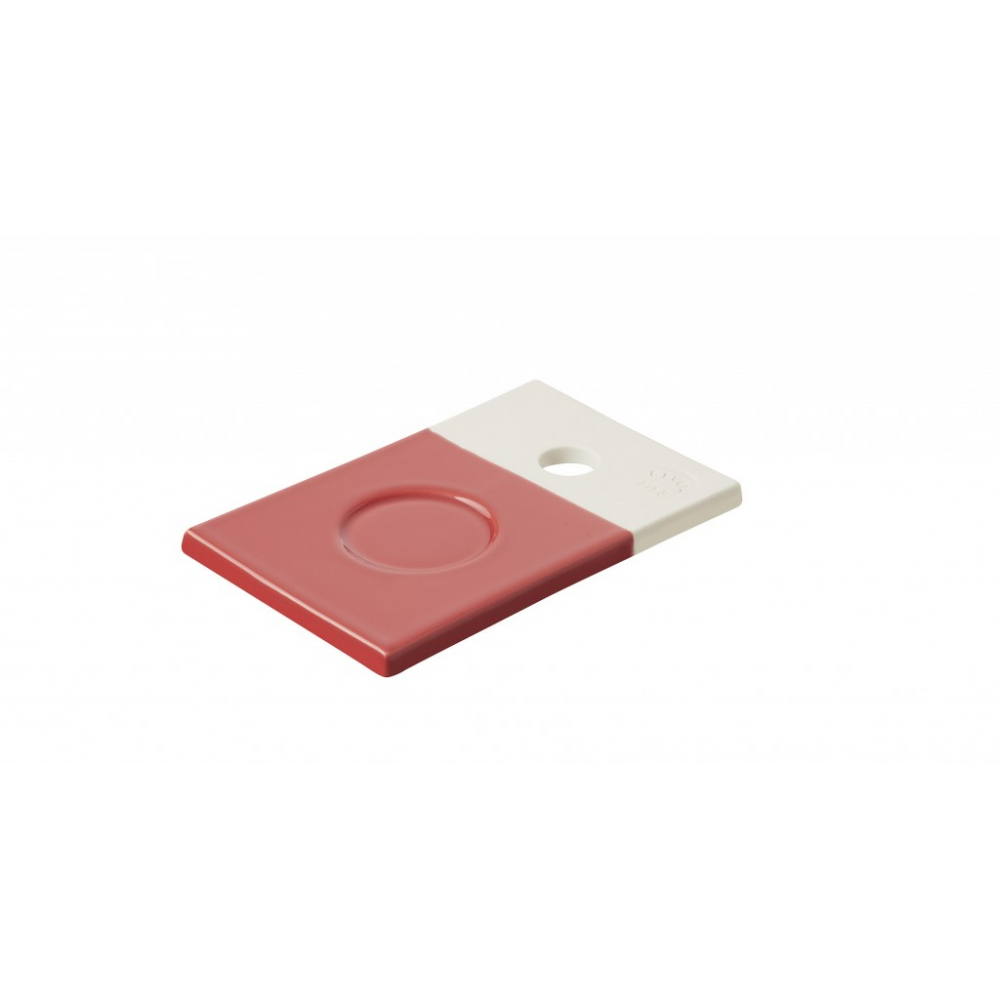 Подставка для чашки Revol Color Lab, красная, 14 х 9 х 0,8 см