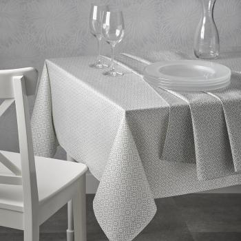Скатерть Atenas Home Textile Delfos Blanco, хлопок с покрытием