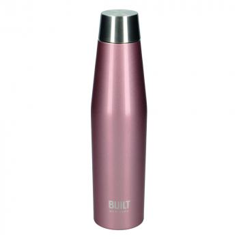 Бутылка металлическая Built Active, с двойными стенками, розовое золото, 540 мл