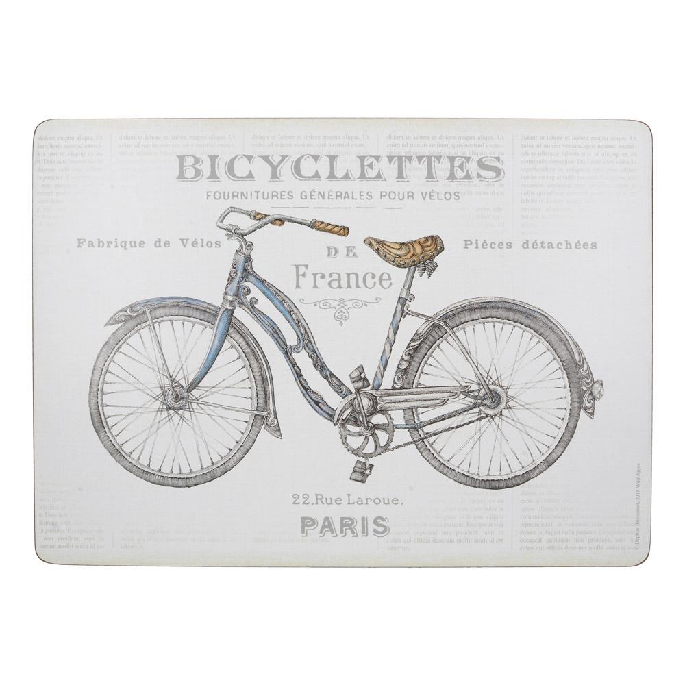 Набор пробковых подставок под тарелки Kitchen Craft Bicycles, 40 х 29 см, 4 пр.
