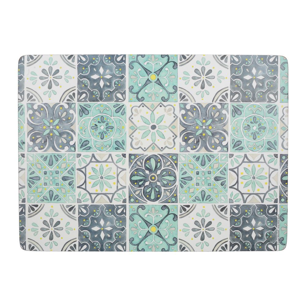 Набор пробковых подставок под тарелки Kitchen Craft Green Tile, 40 х 29 см, 4 пр.