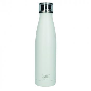Бутылка металлическая Built, с двойными стенками, белая, 500 мл