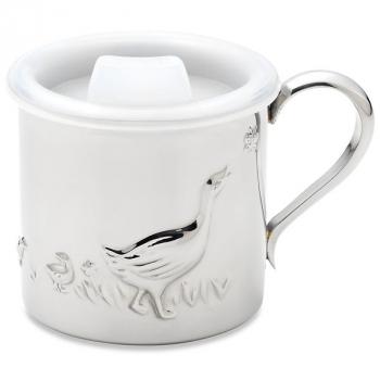Детская чашка с крышкой Reed and Barton FARMYARD, белый, 0,2 л