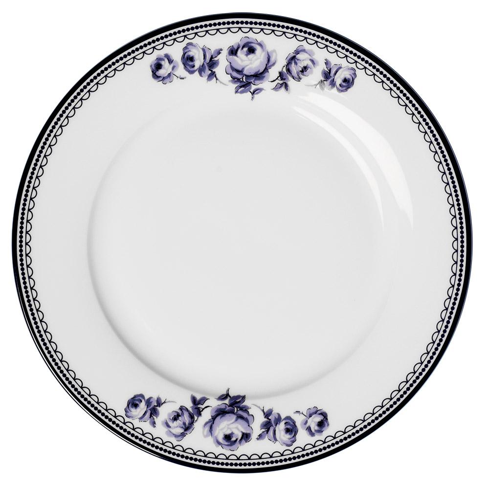 Тарелка обеденная Katie Alice VINTAGE INDIGO White Floral, фарфор, диам. 27 см