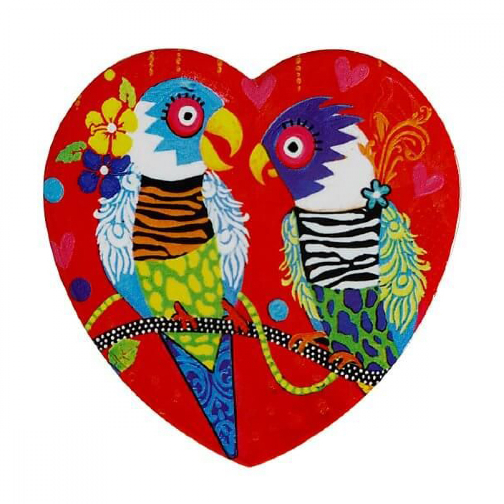 Подставка под чашку Maxwell Williams Tiger Tiger LOVE HEARTS, керамика, 10 х 9,5 см