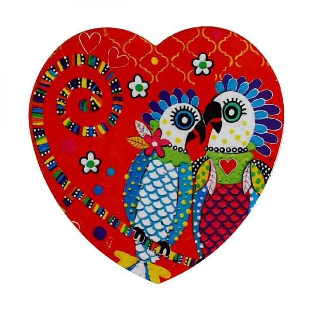 Подставка под чашку Maxwell Williams Fan Club LOVE HEARTS, керамика, 10 х 9,5 см