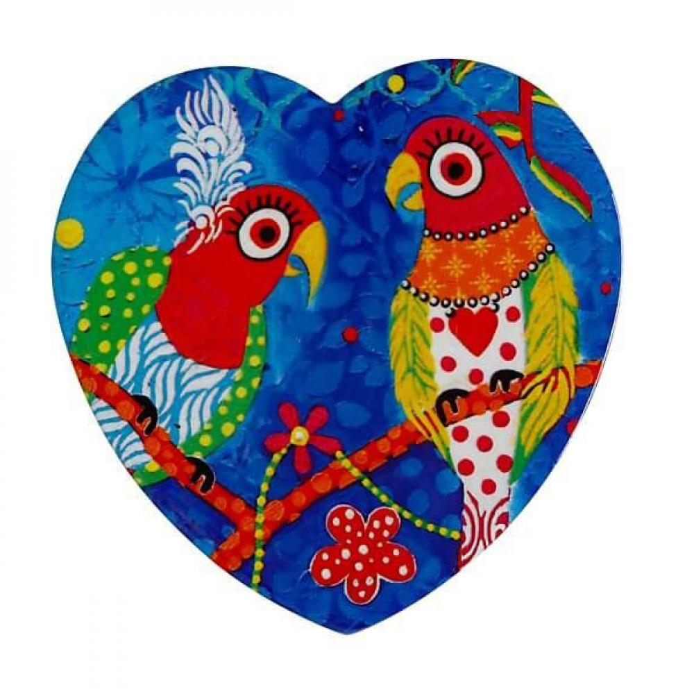 Подставка под чашку Maxwell Williams Rainbow Girl LOVE HEARTS, керамика, 10 х 9,5 см
