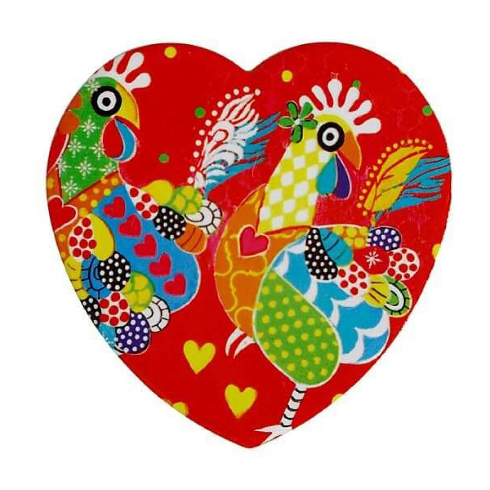 Подставка под чашку Maxwell Williams Chicken Dance LOVE HEARTS, керамика, 10 х 9,5 см