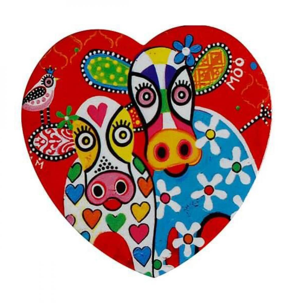 Подставка под чашку Maxwell Williams Happy Moo Day LOVE HEARTS, керамика, 10 х 9,5 см
