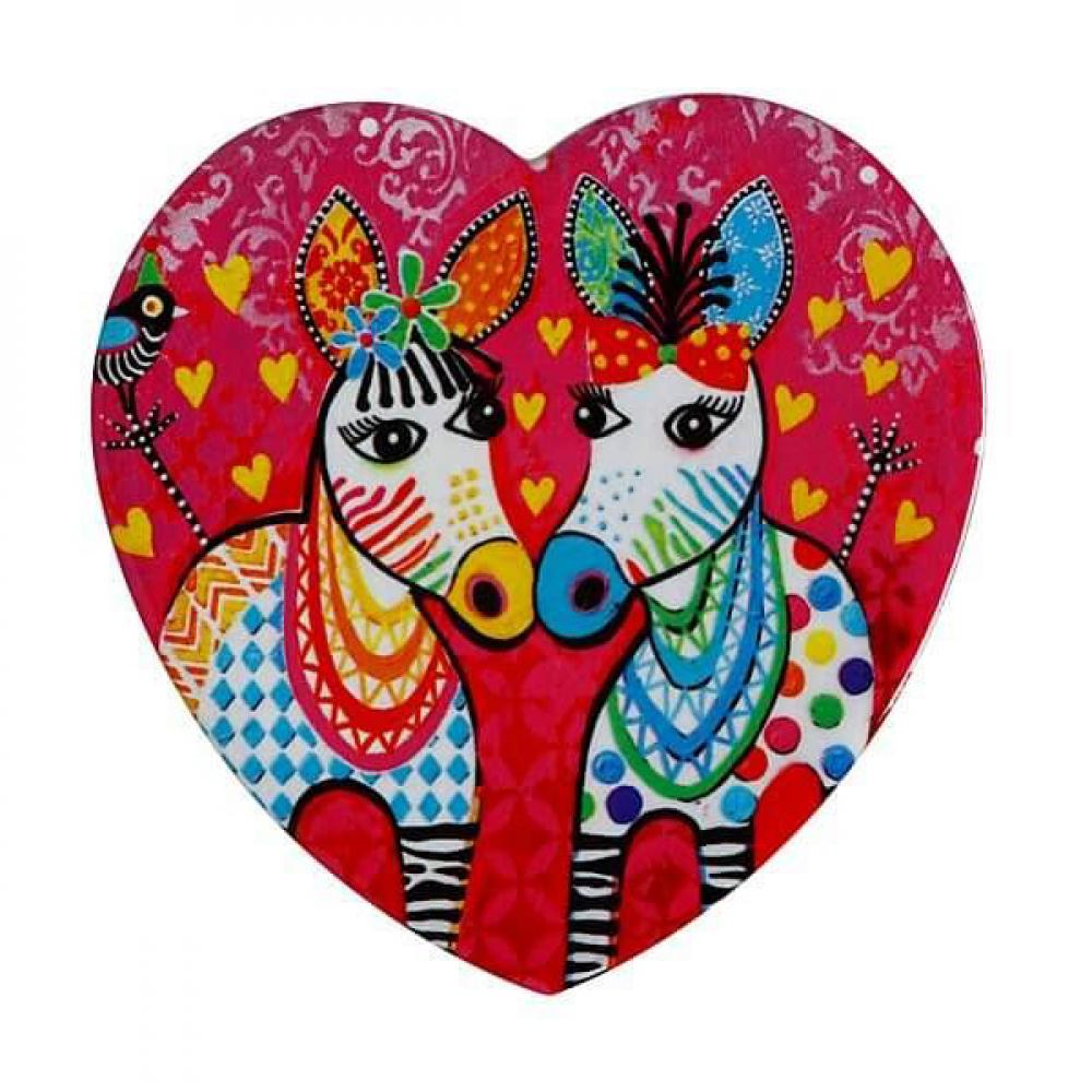 Подставка под чашку Maxwell Williams Zig Zag Zeb LOVE HEARTS, керамика, 10 х 9,5 см