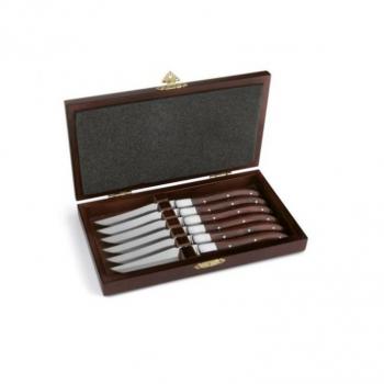Набор ножей для стейка в деревянной коробке, 6 пр.