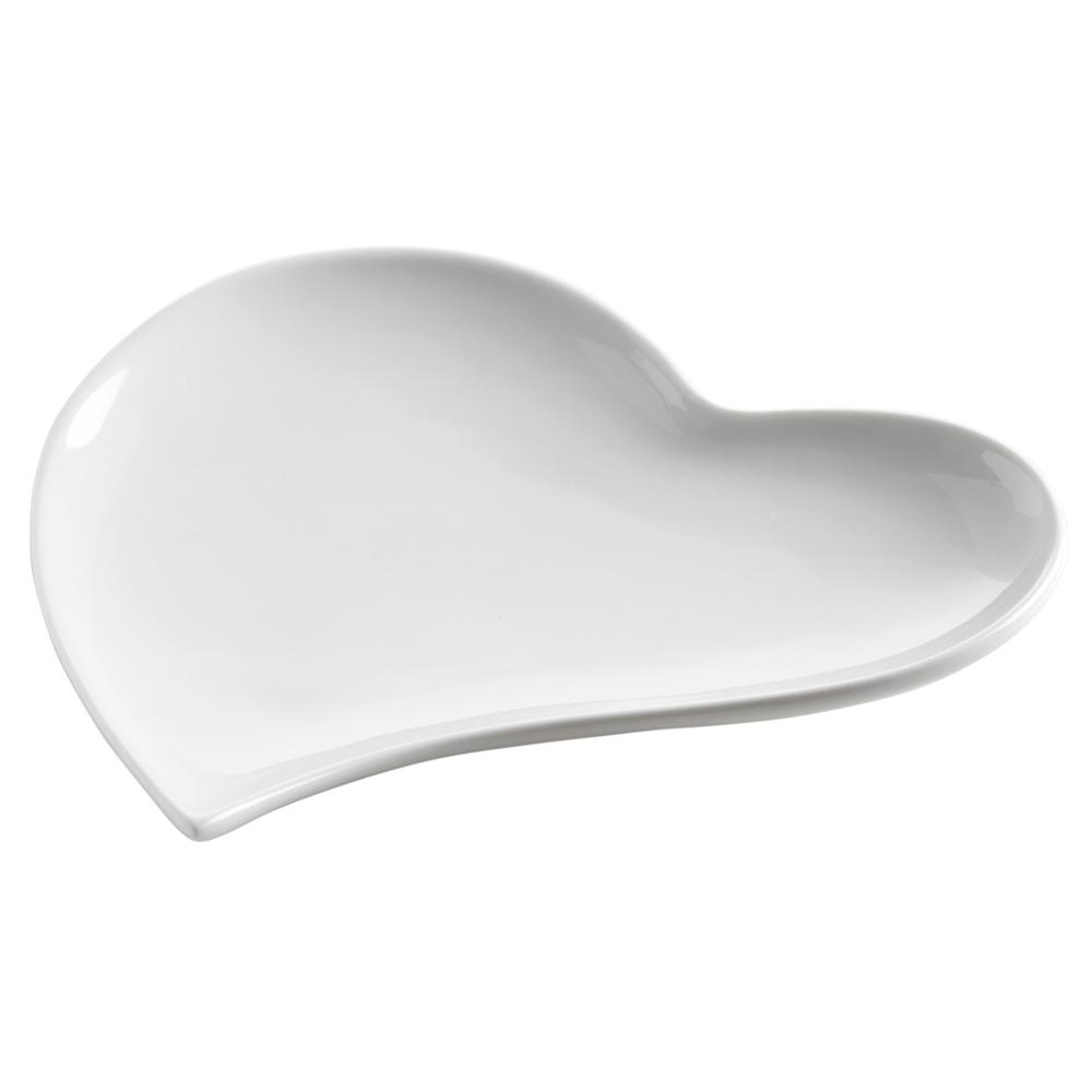 Блюдо WHITE BASICS HEART фарфоровое, 17 х 17 х2,5 см