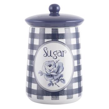 Емкость для сахара Vintage Indigo, с крышкой, керамика, 16 х 9 см