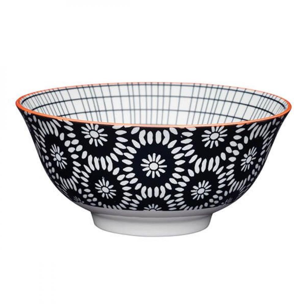 Миска Kitchen Craft BLACK TILE, керамика, диам. 15,7 см, 125 мл