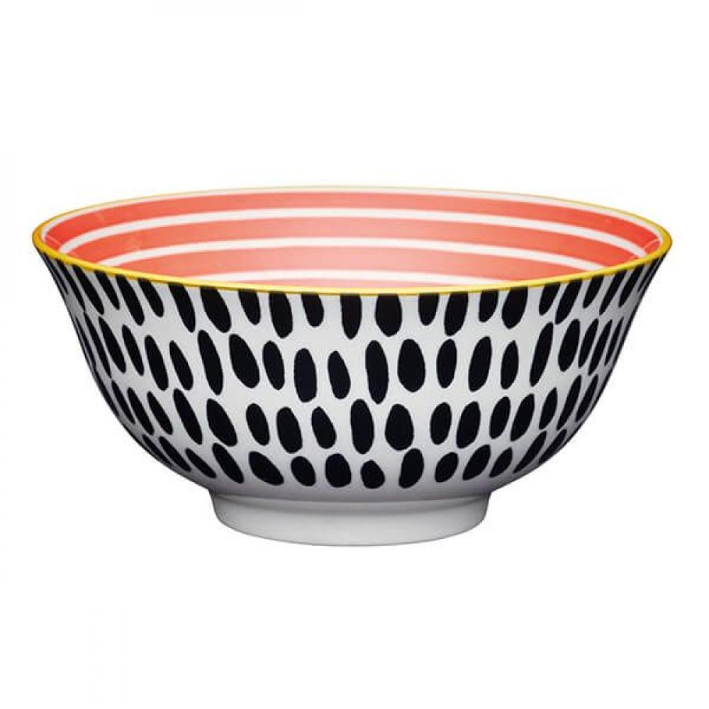Миска Kitchen Craft RED SWIRL, керамика, диам. 15,7 см, 125 мл