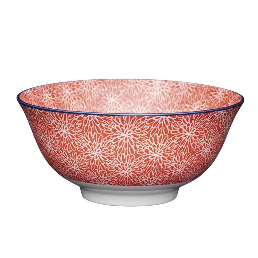 Миска Kitchen Craft RED FLORAL, керамика, диам. 15,7 см, 125 мл