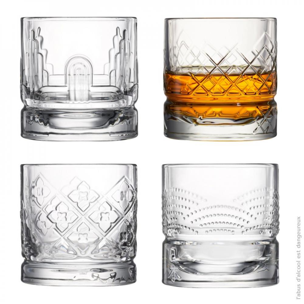 Набор бокалов для виски, H 8,5 мм, 310 мл, 4 шт.