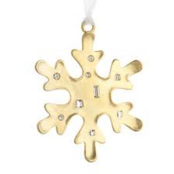 Декоративная снежинка Reed and Barton, позолоченная, h 8 см
