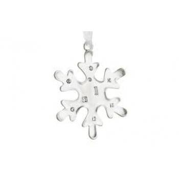 Декоративная снежинка Reed and Barton, посеребренная, h 8 см