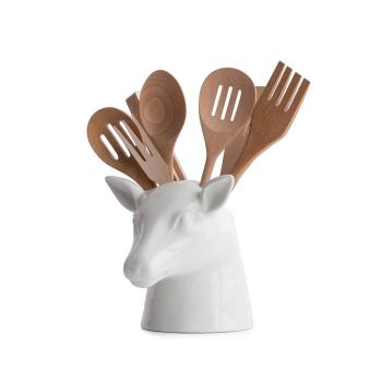 Подставка для кухонных аксессуаров Peleg Design Stag Head, керамика