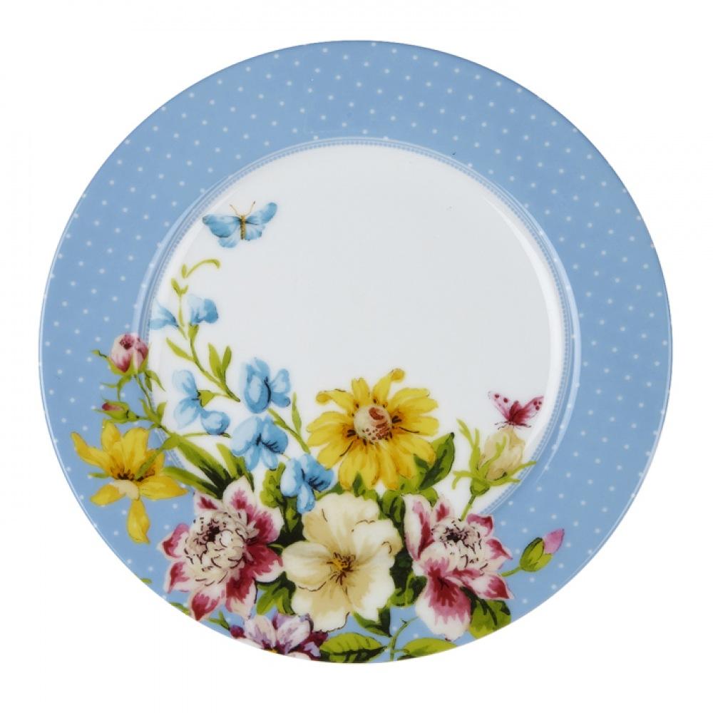 Тарелка десертная Katie Alice ENGLISH GARDEN Blue Spot, фарфор, диам. 19 см
