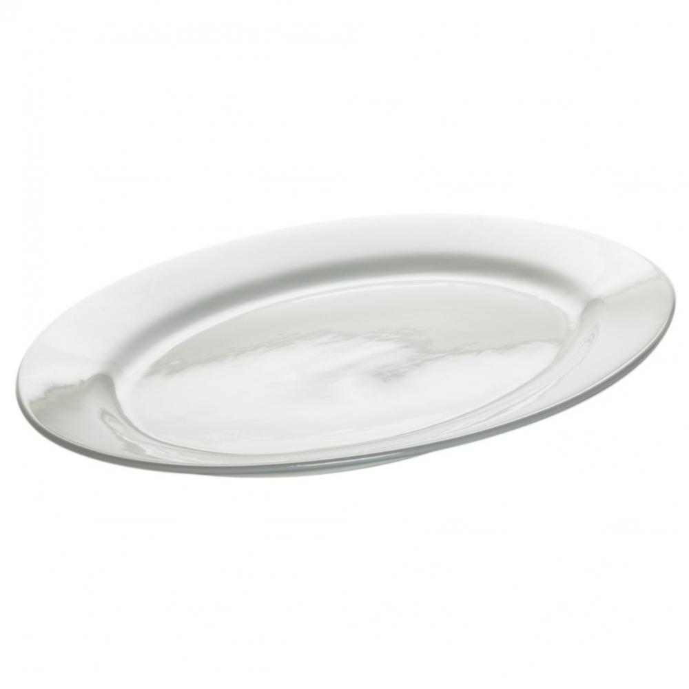 Блюдо овальное WHITE BASICS ROUND фарфоровое, 44 х 32 см